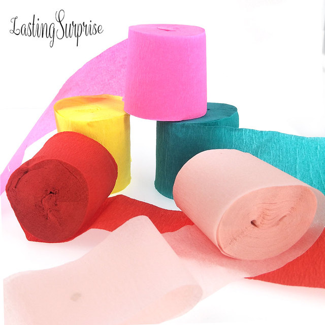 45cm10m Crepe Paper Streamers Garlands For Birthday Decoration Babyshower Deco Christmas Candy