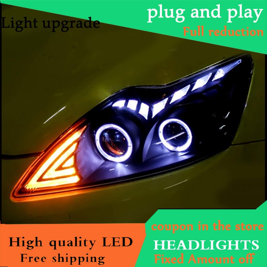 Car Styling Head Lamp For Ford Focus MK2 Headlights 2009 2013 LED Headlight DRL Bi Xenon