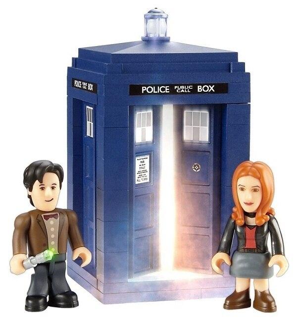 Doctor Who Tardis Mini Construction Playset - Eleventh Doctor <font><b>Action</b></font> <font><b>Figure</b></font> doctor who tardis