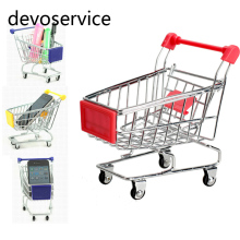 Mini Shopping Cart For Desk Stationery Letter Pen Holder Magazine Organizer Storage School Office Supplies Kids Gifts