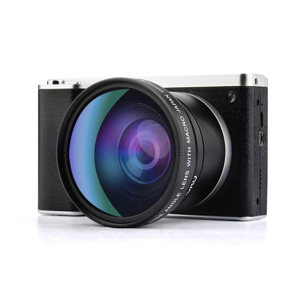 New style R6 Touch Screen 24MP 12X Optical Zoom F3.2 6.5 Digital Camera Video Recorder with 52mm Wide Angle +Macro Lens