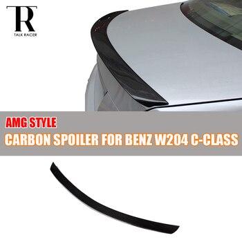 W204 AMG стиль спойлер заднего крыла из углеродного волокна для Mercedes Benz W204 C180 C200 C250 C300 C350 C63 AMG Седан 4 двери 2007-2013