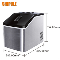 Small Commercial Ice Machine Portable Automatic Ice Maker Household Ice Cube Make Machine For Home Use