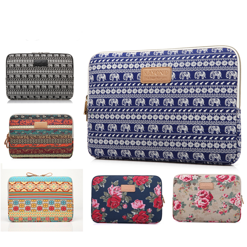 Bohemian 10 11 12 13 14 15.6 Inch Laptop Sleeve Bag for Macbook Air Pro 13 15 Inch With Touch Bar Laptop Cover Case for Women