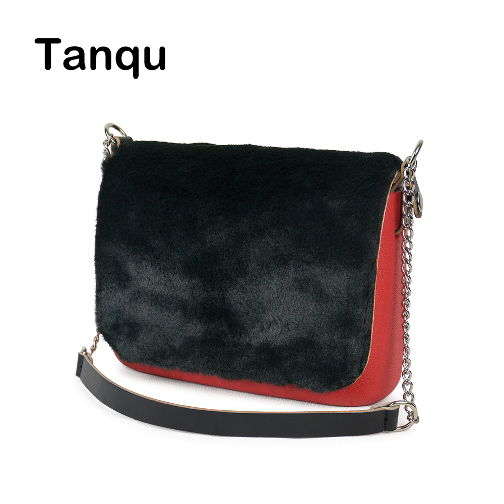 TANQU New Colorful Obag Opocket Style EVA Pocket Plus Soft Plush PU Flap Short Chain Handle Strap with Clip Closure Attachment