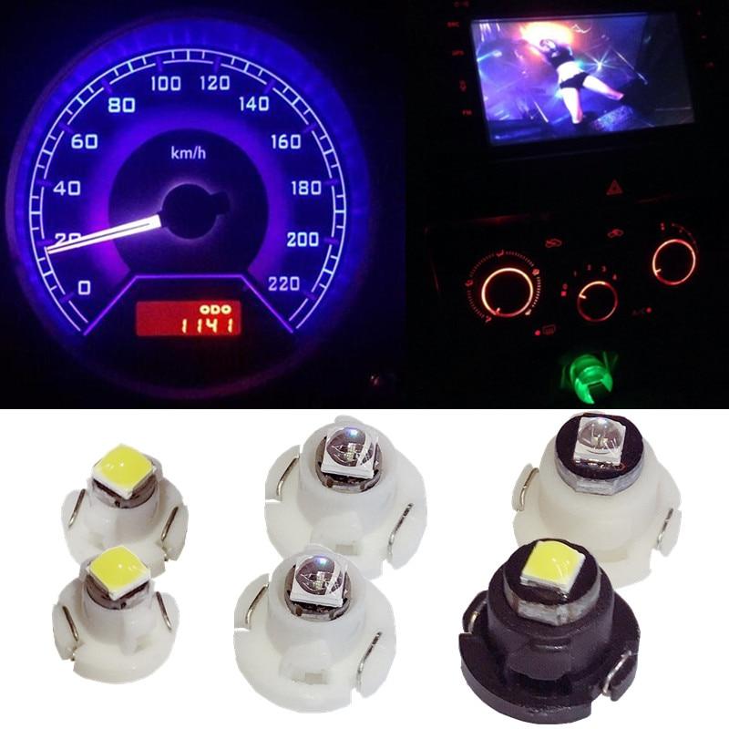 1Pcs T4.7 3SMD White Interior Instrument Dashboard LED light bulbs for cars 12V