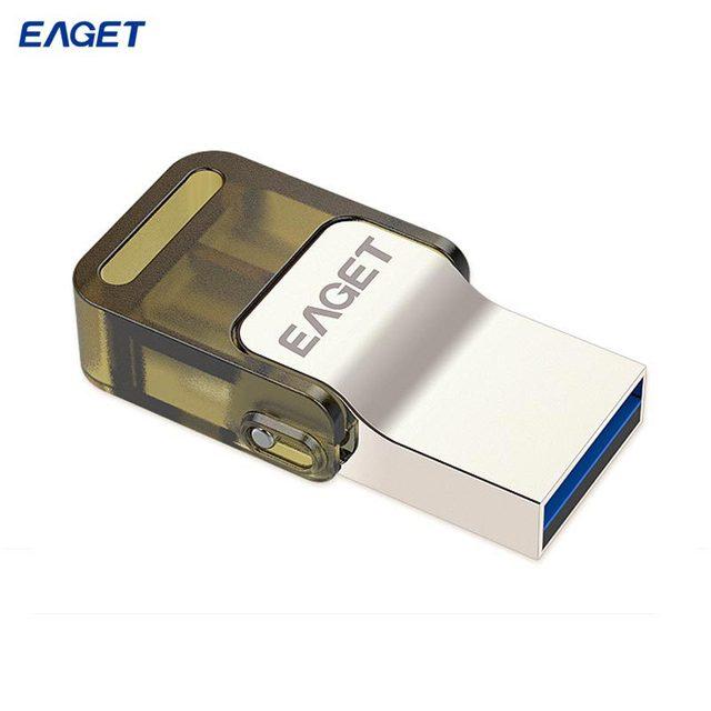 Eaget V60 Otg unidad Flash Usb 32 GB 64 GB Usb 3.0 y Usb Micro Usb enchufe doble Smartphone Pen Drive para Android 4.0 por encima de pasar H2test