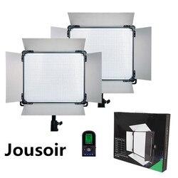 2 pcs Brand Dison Remote Control LED Lamp E-528II 40W 524 LED Slim video light Studio Photography led video Lighti CD50