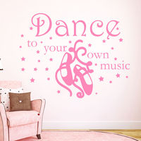 Wall Decal Quotes Dance To Your Own Music Star Art Sport Gym Vinyl Sticker