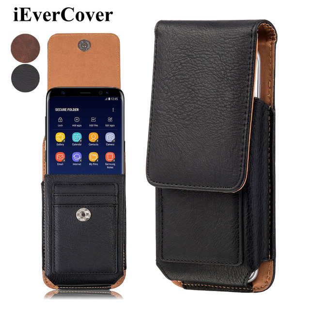 sneakers for cheap bdd94 5939d US $10.02 24% OFF|Premium Vertical Leather Case Pouch Bag Holster Cover w/  Belt Clip for Samsung Galaxy Note 9 8 Note8 Phone Waist Capa Fundas-in ...