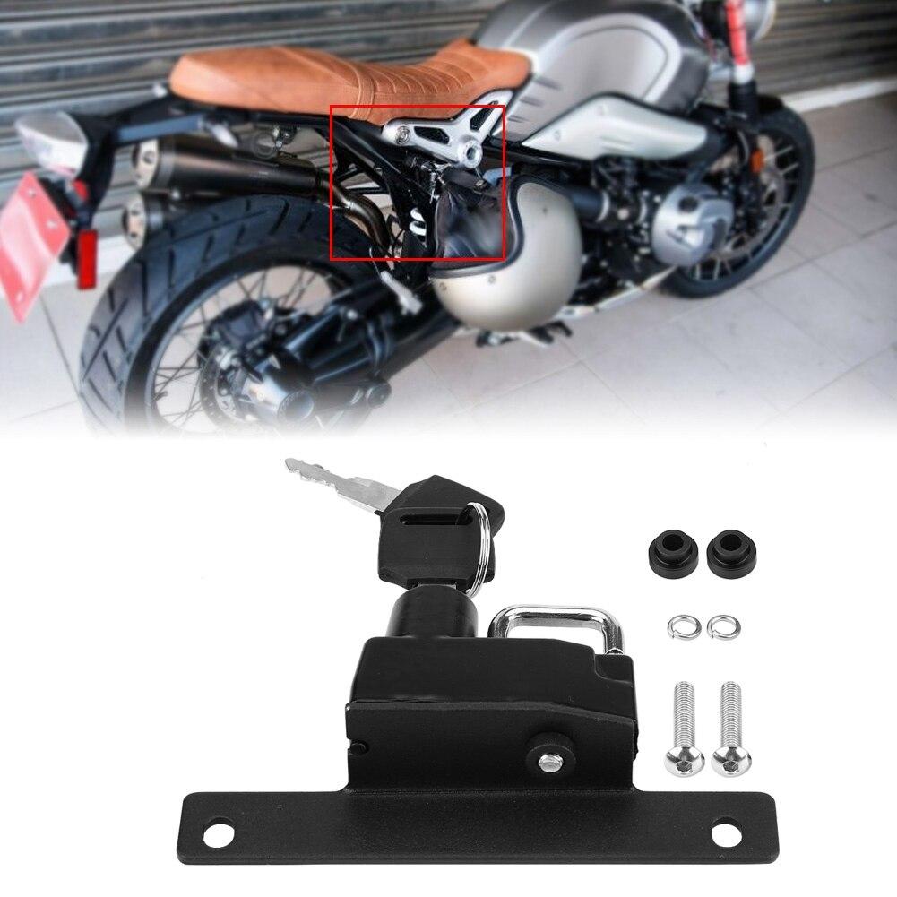 Motorcycle Helmet Lock Motorcycle Left Side Alloy Helmet Lock Mount Hook Universal For BMW R Nine T Models 2017-2018