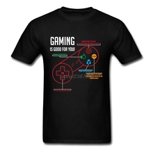 Crewneck T Shirt Man Best Selling Gaming is Good for You T-Shirts Mens 2017 Fashion Cool Tees