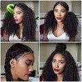 Полный Шнурок Человеческих Волос Парики Для Черные Женщины Малазийский Странный Вьющиеся волосы Парик Афро Кудрявый Вьющиеся Кружева Фронтальной Парик Шнурка Человеческих Волос Вьющиеся парики