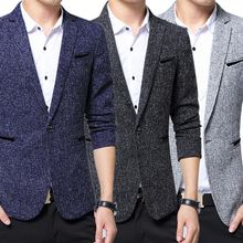 2017 Fashion Men Slim Fit Blazer Suit Jacket Blazers Coat Office Casual Wear Tops Plus Size 5XL JL