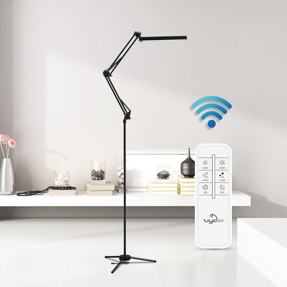 Adjustable Modern Design Eye Caring Touch Switch Remote Control Dimmable LED Floor Standing Lamps Led Lights for Reading f9 modern touch led standing floor lamp reading for living room bedroom with remote control 12 levels dimmable 3000 6000k black