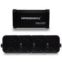 4 канала 500 Вт Морской Blutooth усилитель для мотоцикла лодка стерео USB MP3 аудио + 4 Морской Водонепроницаемый Box стерео динамики