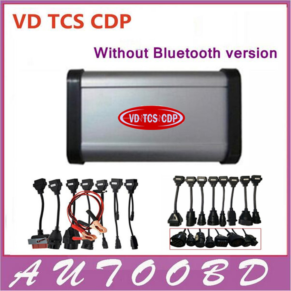 DHL free!! Black (LED LIGHT) VD TCS CDP Pro Plus 2014.R2 free activate+(Flight&Speaker)+ full 8 car cables+full 8 truck cables 5 psc lot diagnostic tool connect cable adapter for tcs cdp plus pro obd2 obdii truck full 8 trucks cables for cdp by dhl free