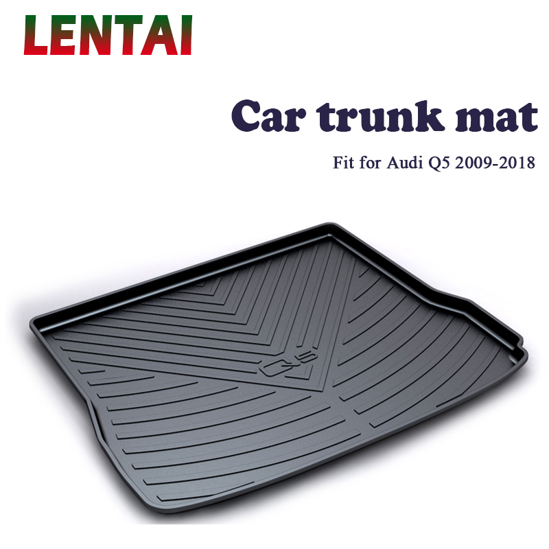 LENTAI 1PC rear trunk Cargo mat For Audi Q5 B8 B9 2009 2010 2011 2012 2013 2014 2015 2016 2017 2018 Boot Liner Tray AccessoriesLENTAI 1PC rear trunk Cargo mat For Audi Q5 B8 B9 2009 2010 2011 2012 2013 2014 2015 2016 2017 2018 Boot Liner Tray Accessories