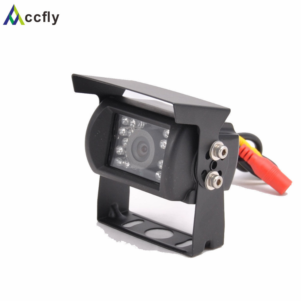 Accfly 12V 24V HD CCD Car Rear View reverse Camera 120 dgeree for bus trucks Caravan Excavator RV Trailer camper ...