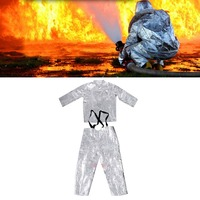 500 CentigradeAluminum foil clothing Fire Fighting suit fireman outside suit high tempreature protective Radiation proof clothes