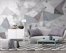 beibehang Customized modern minimalist abstract three-dimensional geometric TV bedroom background papel de parede 3d wallpaper beibehang modern minimalist 3d abstract geometric wallpaper barber shop scandinavian style bedroom living room tv background