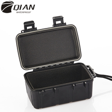 QIAN Professional Impact ABS Plastic Storage Box Anti-collision Safety Equipment Waterproof Box Sealed Covered Organizer Case 0 75 kg 353 196 108mm abs plastic sealed waterproof safety equipment case portable tool box dry box outdoor equipment