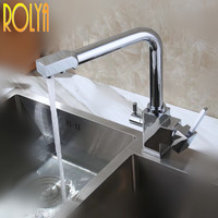New Wholesale Factory Direct Price Swivel Osmosis Reverse Tri Flow Sink Mixer Tap 3 Way Drinking
