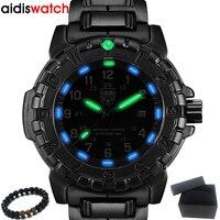 Alta qualidade dos homens relógios de marca superior aidis à prova dwaterproof água luminosa esportes militar relógios quartzo relógio masculino relogio masculino Relógios de quartzo     -