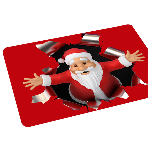 Christmas Rug Holiday Anti Fatigue Kitchen Bedroom Door Mats Red+white Santa