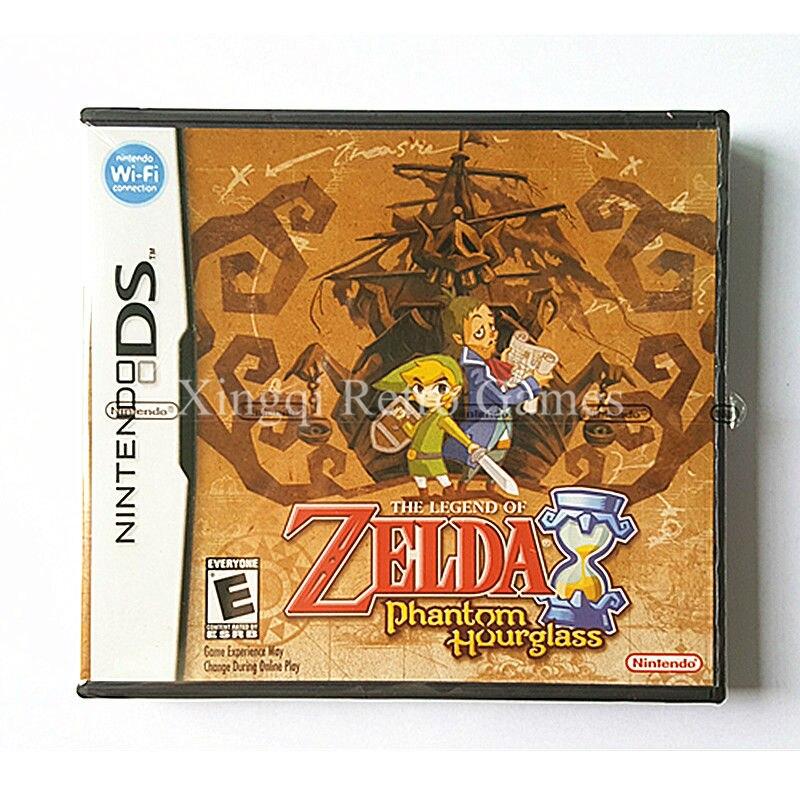 Nintendo NDS Game The Legend of Zelda Phantom Hourglass Video Game Cartridge Console Card US English