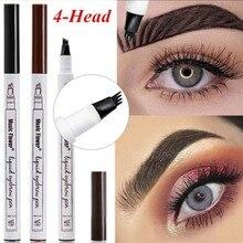3 color eyebrow pencil Microblading sharp tattoo pen waterproof durable professional fine sketch liquid