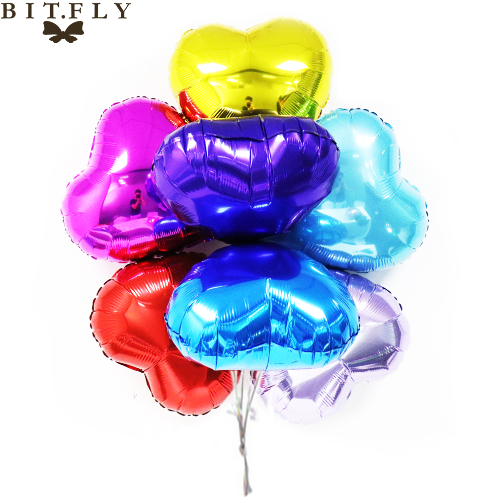 18inch multicolor heart shape aluminum foil balloons for Helium balloon decoration