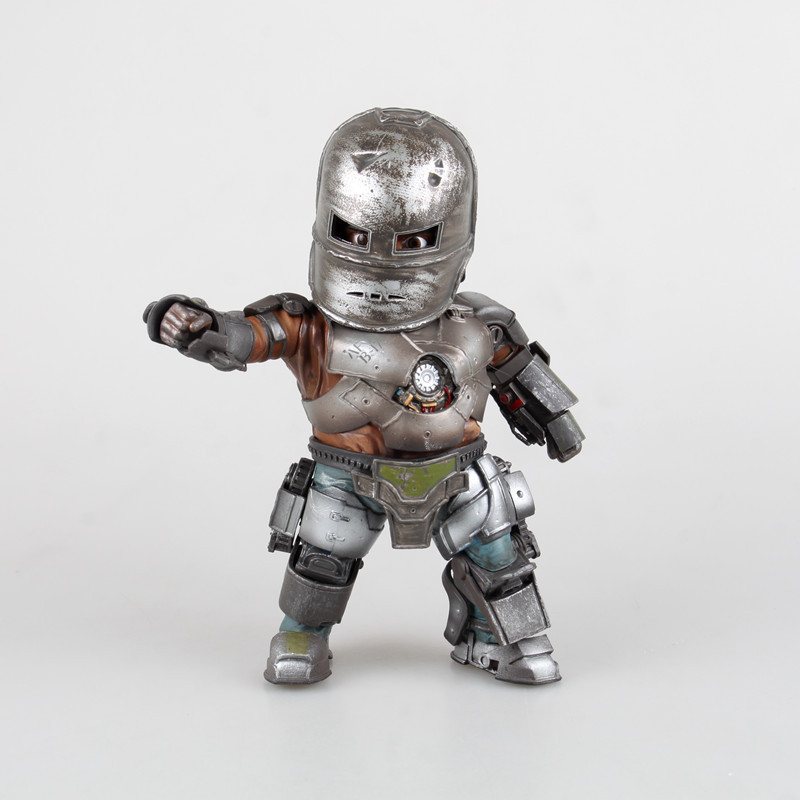 цены HKXZM Movie Figure 20CM Iron Man 3 Mark 1 Egg Attack With LED Light PVC Figure Collectible Model Toy Gift