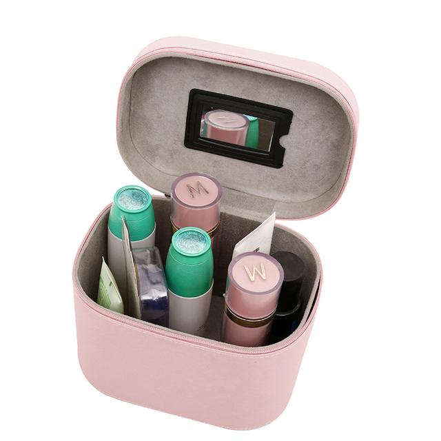 Estilo de corea Nueva Señora de Las Mujeres de Viaje Multifunción Bolsa de Cosméticos de Maquillaje de LA PU Bolsa de La Caja de Alta Calidad del artículo de Tocador Del Organizador