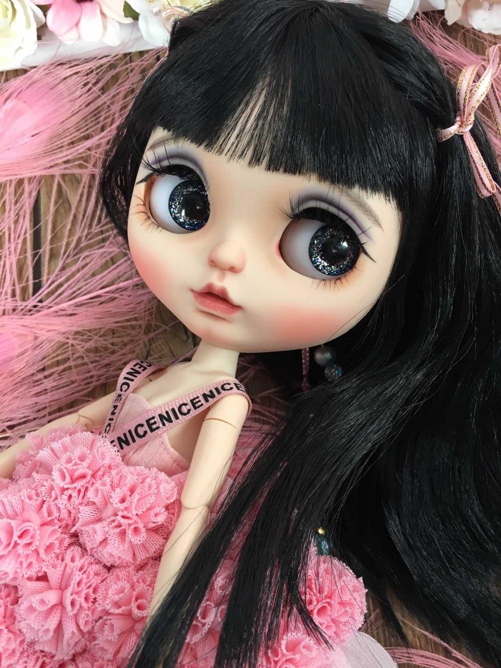 Personalizacja lalki DIY Nude blyth doll dla dziewczynek nagie lalki piękna dziewczyna 2019 nie obejmują ubrania) w Lalki od Zabawki i hobby na  Grupa 1