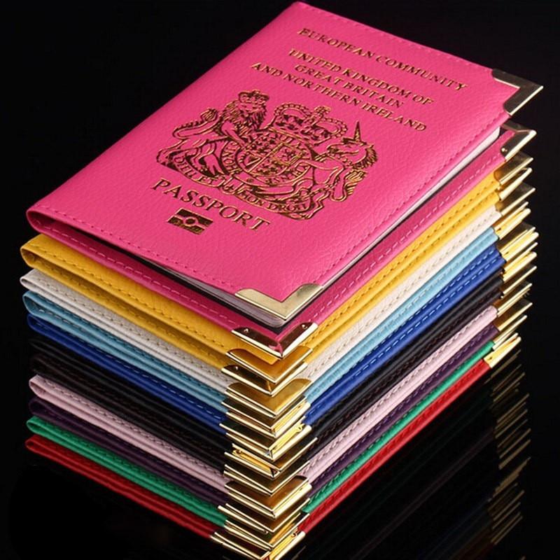 1 Pcs Passport Halter 6 Farben Europäischen Gemeinschaft Vereinigten Königreich Großbritannien Pu Künstliche Leder Protector Passport Taschen Abdeckung Fall