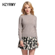 HZYRMY Spring New Women's Cashmere Sweater Fashion Half Turtleneck Wool Knit Pullover Solid Color Slim Bottoming Shirt Sweaters