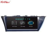 KiriNavi 12,3 Octa Core Android 7,1 автомобиль gps для Toyota Corolla мультимедиа навигации системы радио стерео головное устройство аудиосистемы RDS 4 г