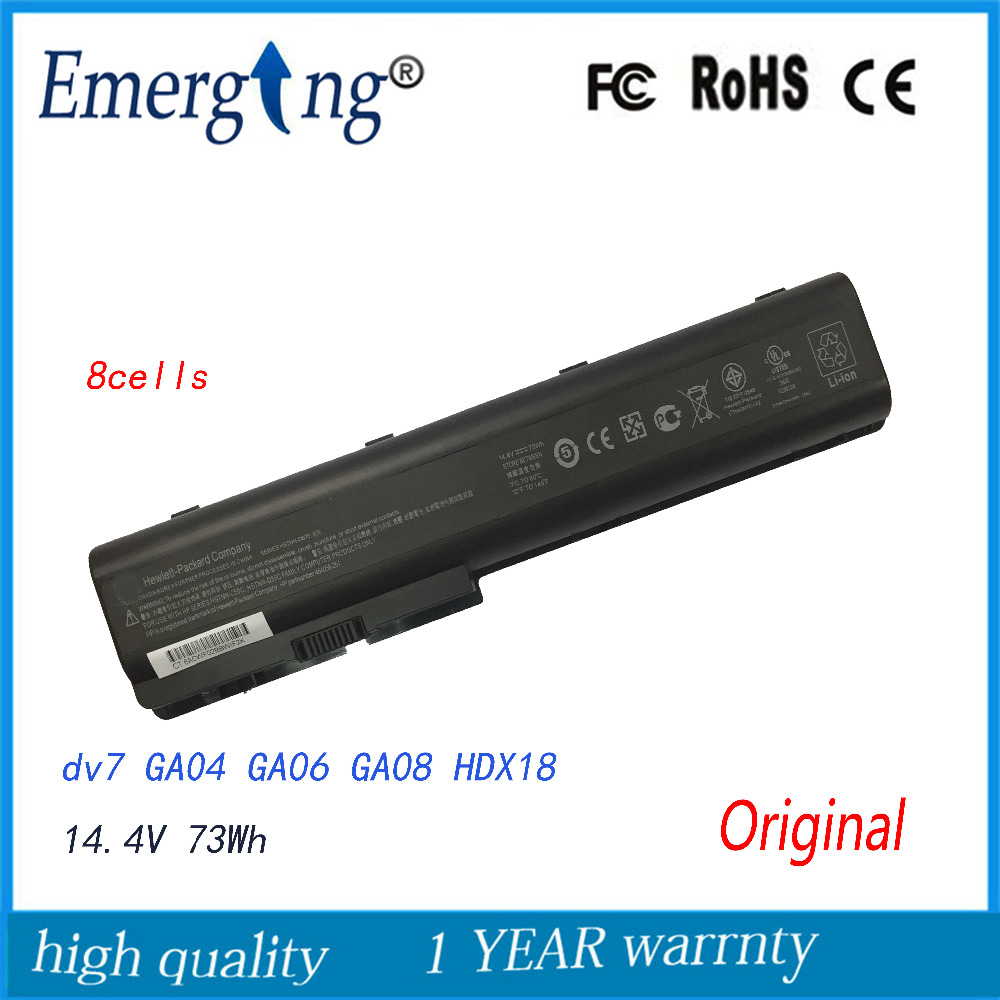 8Cells New Original Laptop Battery for HP Pavilion DV7 DV8 DV7Z DV7T HDX18 dv8t-1000 HSTNN-IB74 HSTNN-IB75 HSTNN-XB75