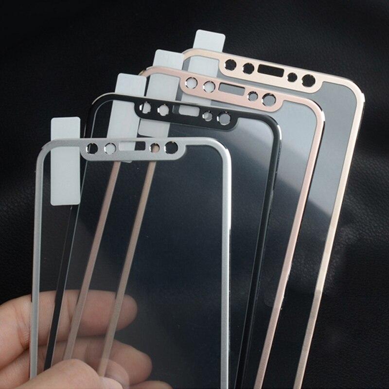 f8d99152669 YKSPACE 9 H HD 3D curva de aleación de Metal borde la cobertura completa de vidrio  templado para iPhone X XS X MAX XR 10 iPhoneX Film Protector de pantalla
