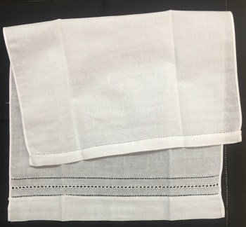 Set Of 12 Home Garden Hand Towels Linen Hemstitched Tea Towel 14X22-inch Cleaning Cloth Guest Hand Dish Kitchen Bathroom Towels