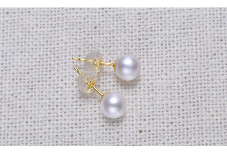 gold freshwater pearl earrings jewelry 33