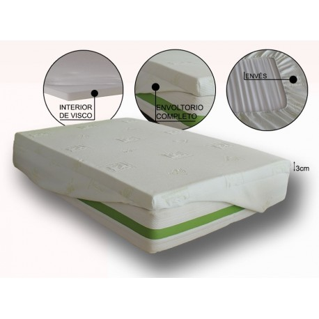 VENTADECOLCHONES Topper Viscoelastic Dream 3 Manufactured In Viscoelastic In Different Measures Ideal For Improve Thy Mattress