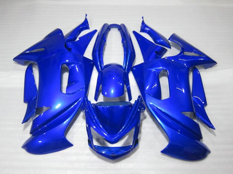 Free customize fairing kit for Kawasaki Ninja 650R 06 07 08 blue fairings set 650r 2006 2007 2008 OW05
