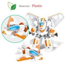 Anak-anak Tokoh Anime Mainan Transformasi Plastik Model Mobil Robot Mainan Tokoh Aksi Anak Educationl Transformasi Mainan Hadiah
