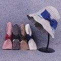 10 шт. shipping2015A-673 женщины дутый солнца шляпа жестяная банка раскладной кепка, Солнце леди шляпа
