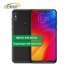 "Moto Rola P30 Catatan Moto Satu Power Smartphone 6.2 ""Snapdragon 636 Octa Core 4/6GB RAM GB ROM 16.0MP + 5.0MP 5000 MAh Ponsel(China)"