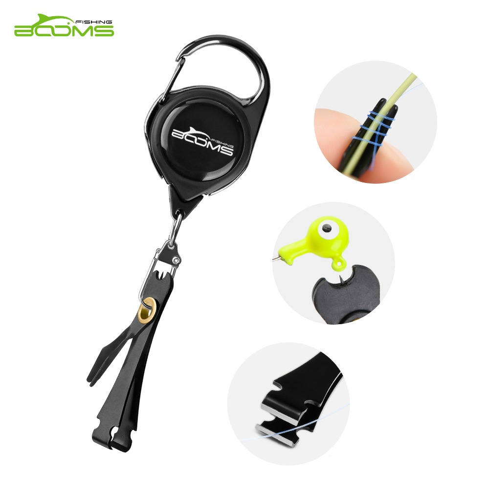 Booms Fishing Quick Knot Tying Tool Fly Fishing Line Scissors Cutter Clipper Nippers Fast Knotter Tie Zinger Retractor Tackle(China)