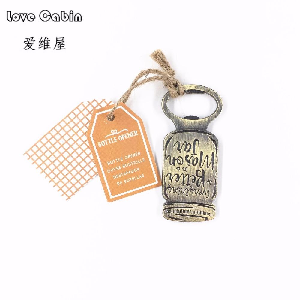 Wedding Favor And Festival: Bottle Shape Metal Bottle Opener 10pcs Wedding Favor