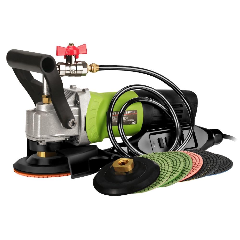 ZFE 900W 110V/230V Variable Speed Wet Dry Polisher/Grinder & Granite Diamond Polishing Pads Hook&Loop Backing pad 5/8-11 Thread zfe m14 converts polisher pad backing plate to 5 16 da polish thread for air sander